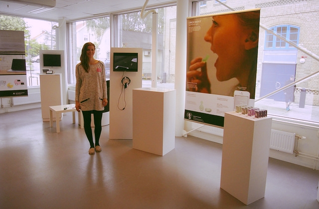 Real experience at the exhibition at Umeå Instistute of Design final show.