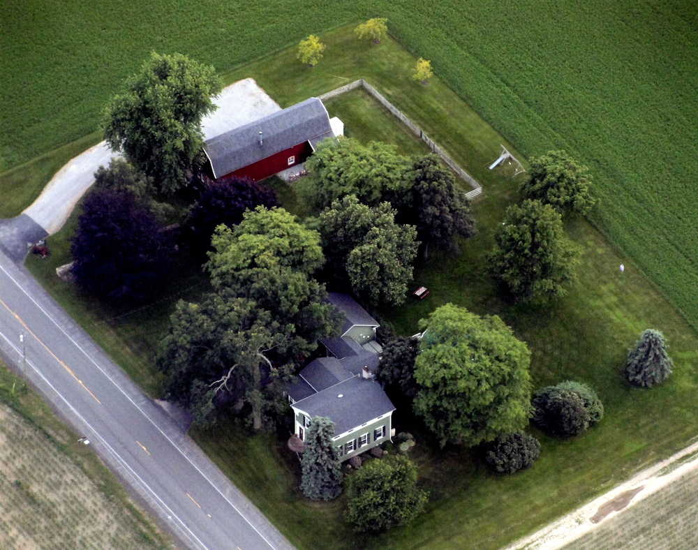 The Smith House from a Hot Air Balloon