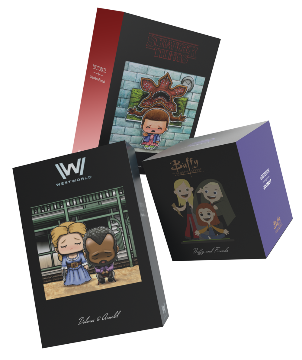 Artist Series Packaging Featuring: HBO'™ Westworld, Netflix Stranger Things™, and Buffy™ The Vampire Slayer