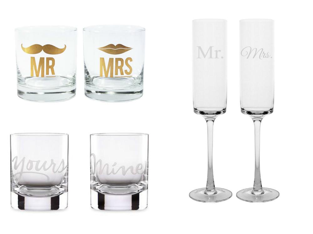 Mr. Mrs. Glasses Flutes