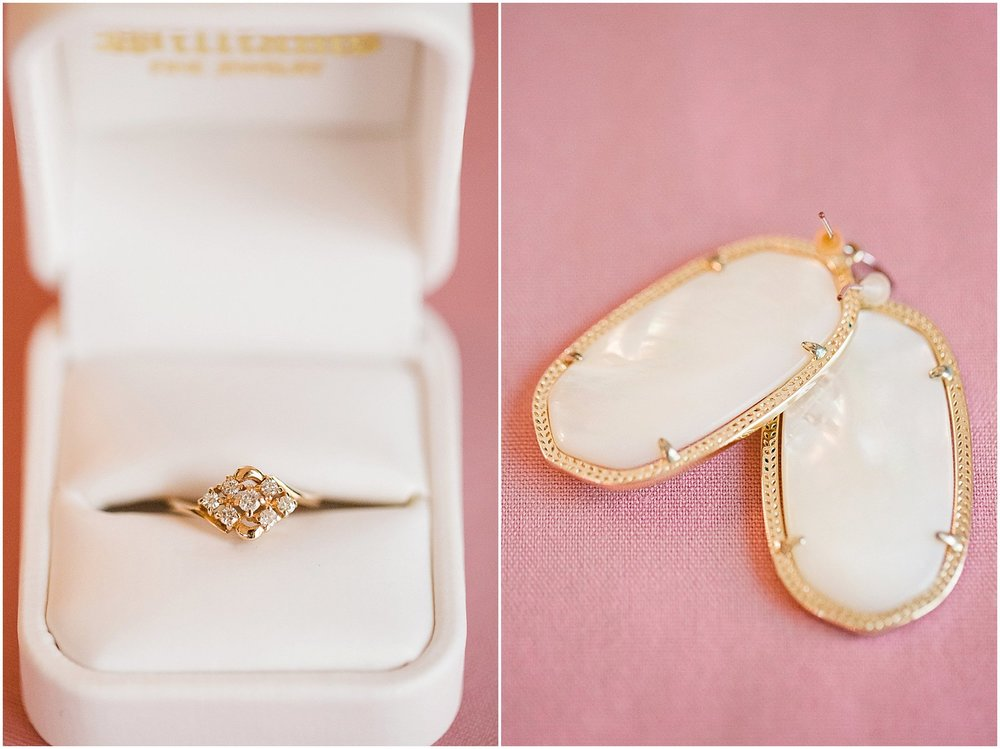 Antique Engagement Ring & Kendra Scott Danielle Earrings | Phoenix Wedding Planner | Megan Dileen Events