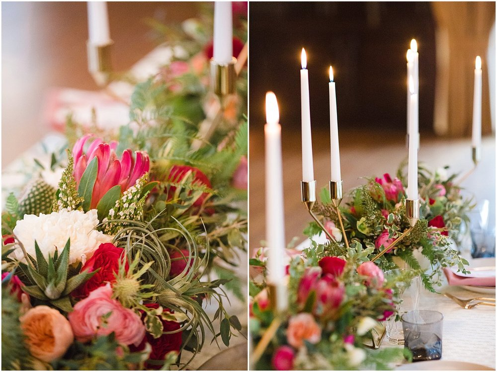Peony, Protea & Succulent Centerpiece | Phoenix Wedding Planner | Megan Dileen Events