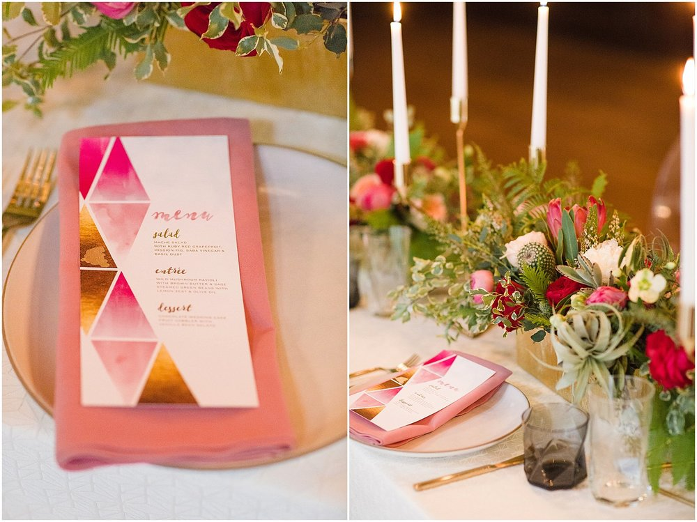 Wedding Inspiration with Gold Flatware, Pink Peonies & Protea | Phoenix Wedding Planner | Megan Dileen Events