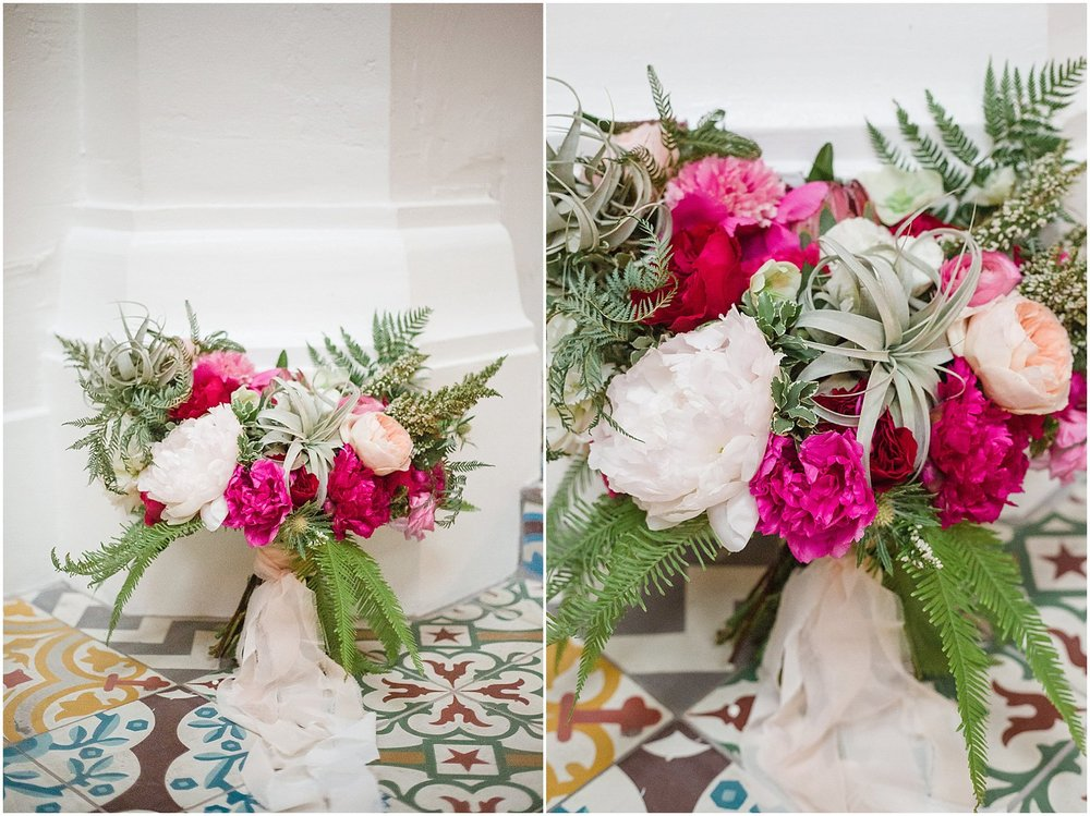 Pink Peony & Air Plant Bouquet | Phoenix Wedding Planner | Megan Dileen Events