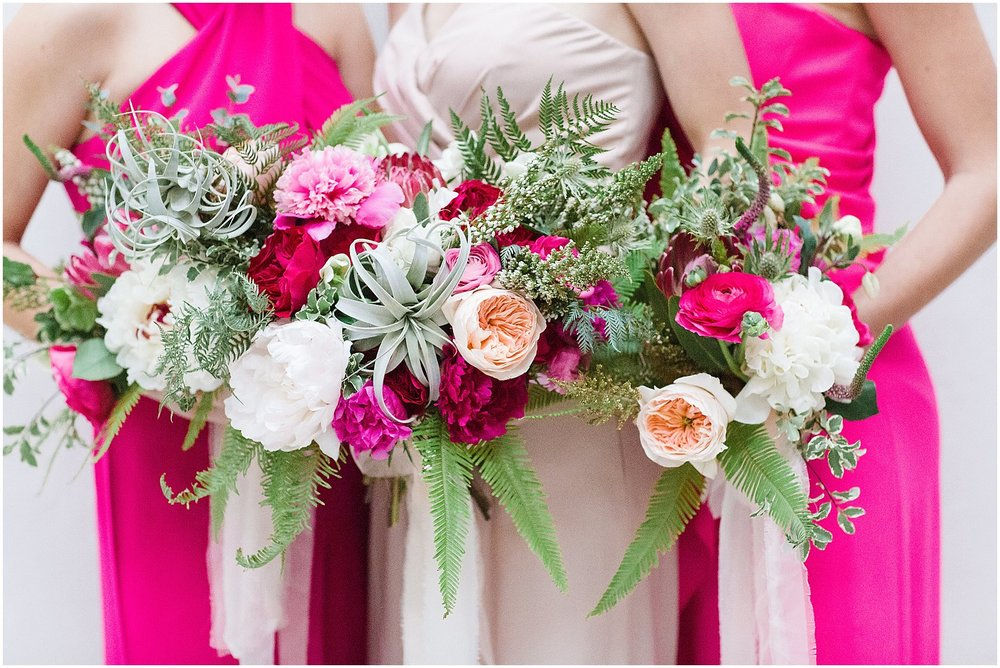 Bridesmaid Jumpsuits & Pink Peony Bouquets | Scottsdale Wedding Planner | Megan Dileen Events