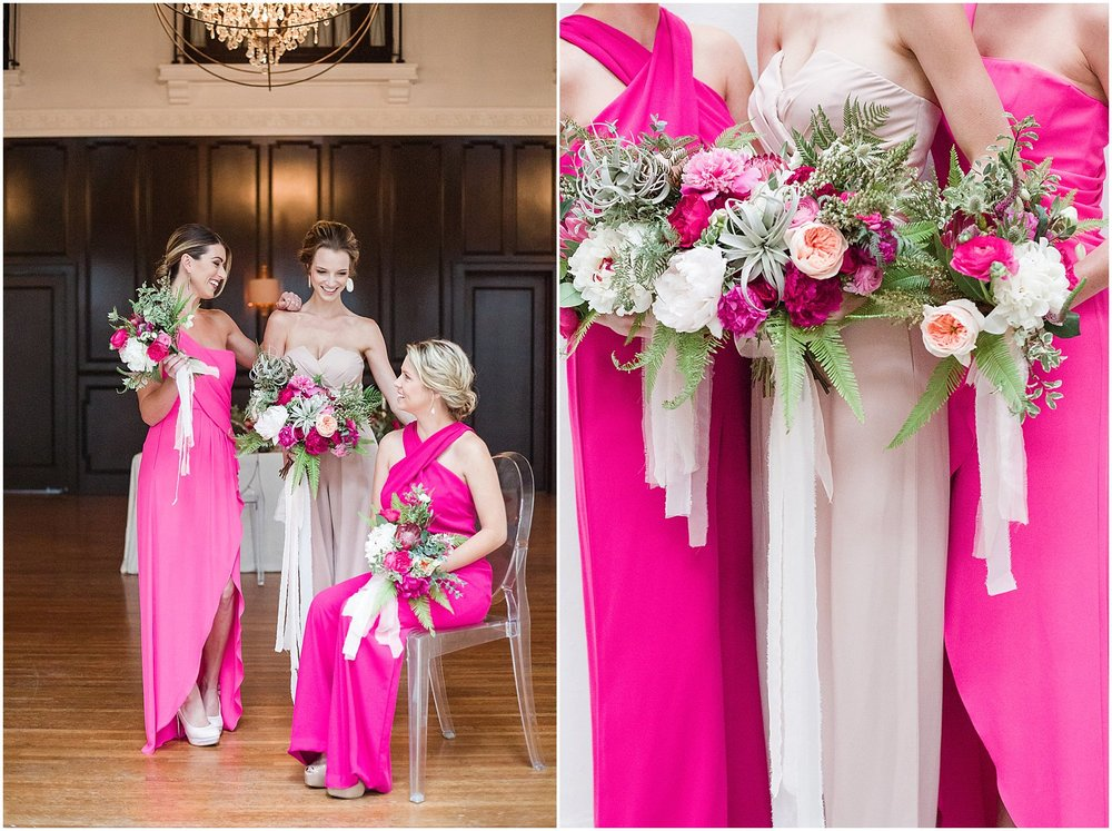 Pink Peony, Protea & Succulent Bouquet | Phoenix Wedding Planner | Megan Dileen Events