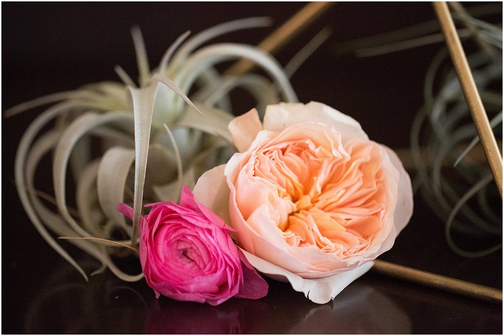 Garden Roses & Air Plant | Phoenix Wedding Planner | Megan Dileen Events