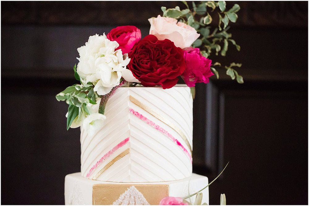 Peony & Rose Cake Topper | Phoenix Wedding Planner | Megan Dileen Events