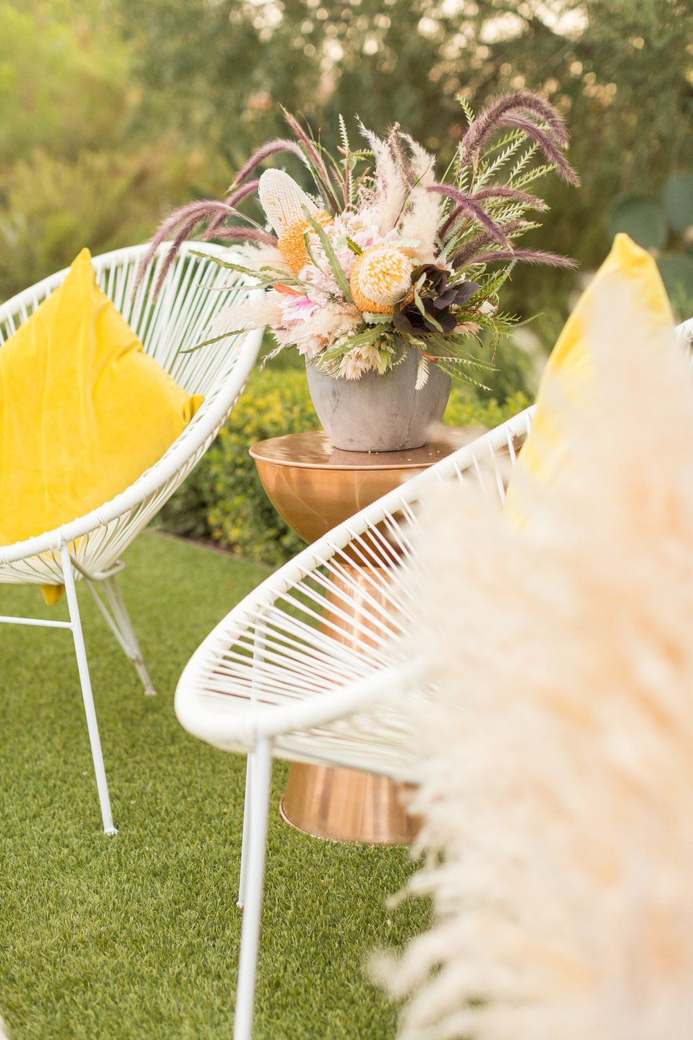 Boho Lounge with Acapulco Chairs | Phoenix Wedding Planner | Megan Dileen Events