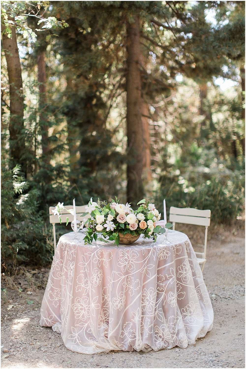 Romantic Sweetheart Table with La Tavola Peony Linen & Garden Bistro Chairs featured on Style Me Pretty | Phoenix Wedding Planner | Megan Dileen Events
