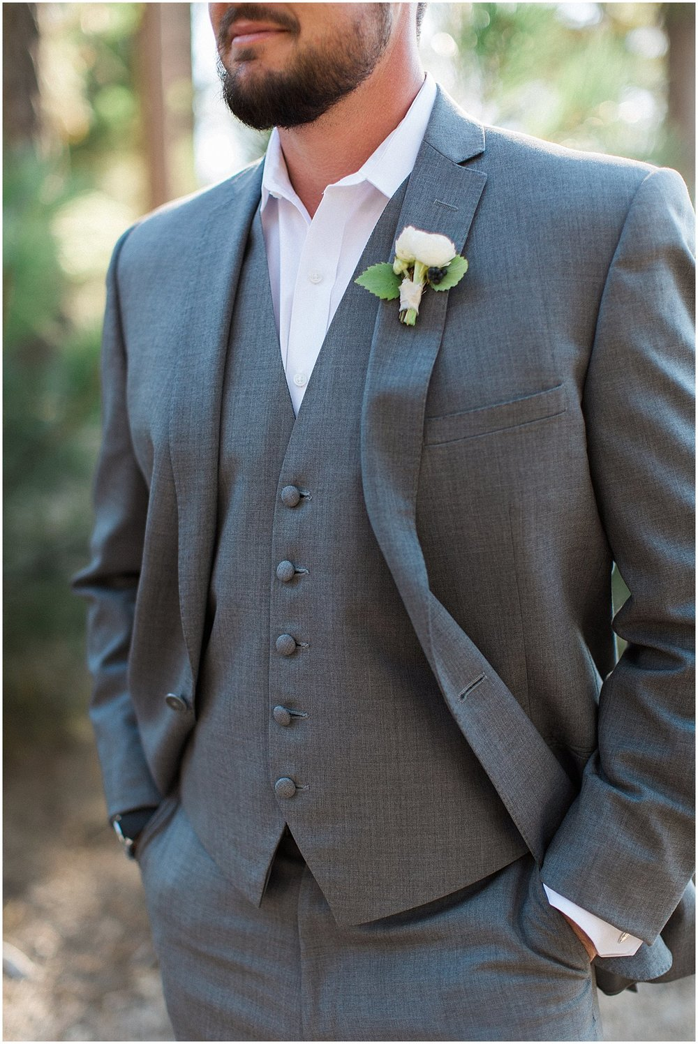 Groom in grey suit from Friar Tux | featured on Style Me Pretty | Arizona Wedding Planner | Megan Dileen Events