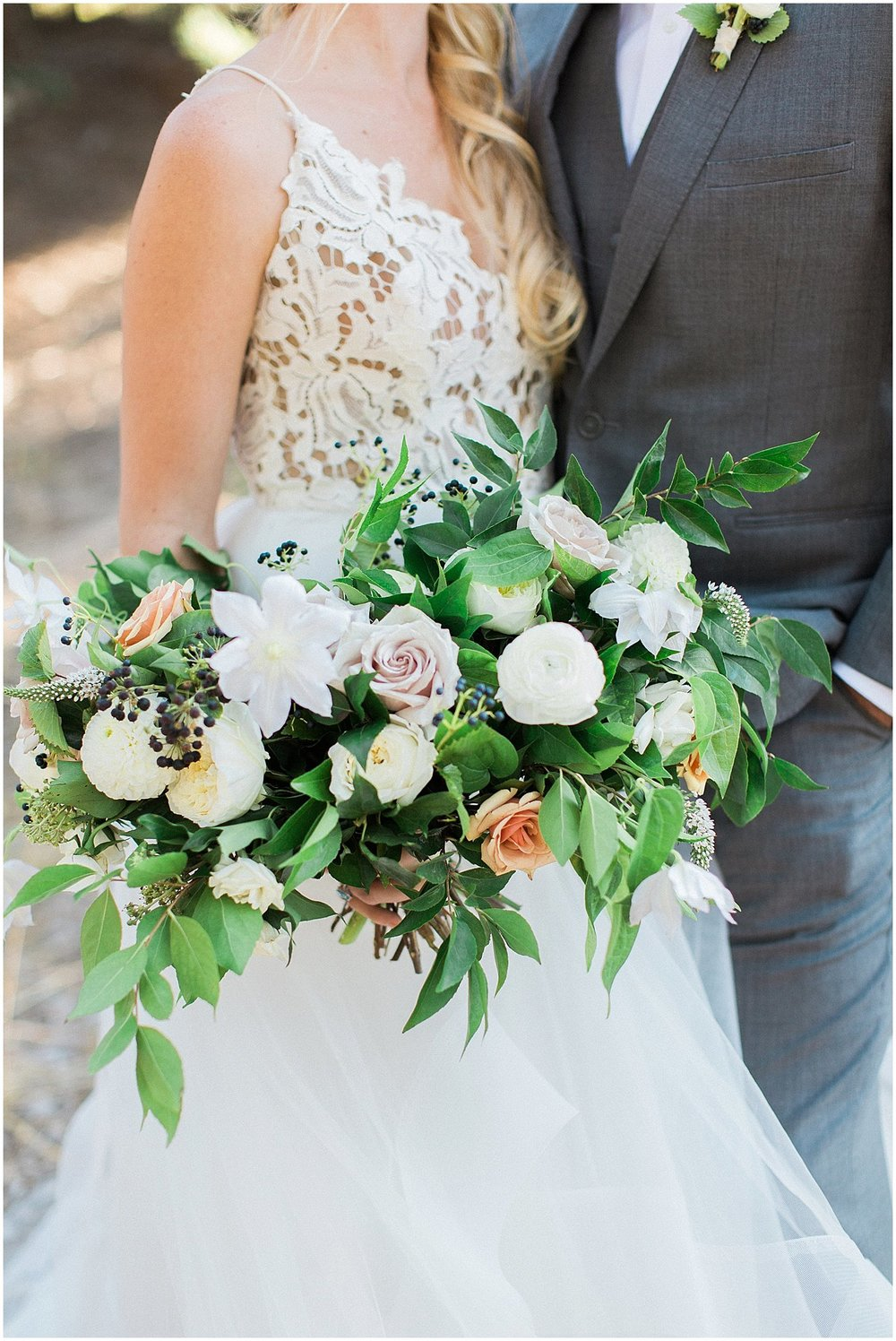 Hayley Paige Halo Wedding Dress & Whimsical Bouquet by Modern Bouquet featured on Style Me Pretty | Scottsdale Wedding Planner | Megan Dileen Events