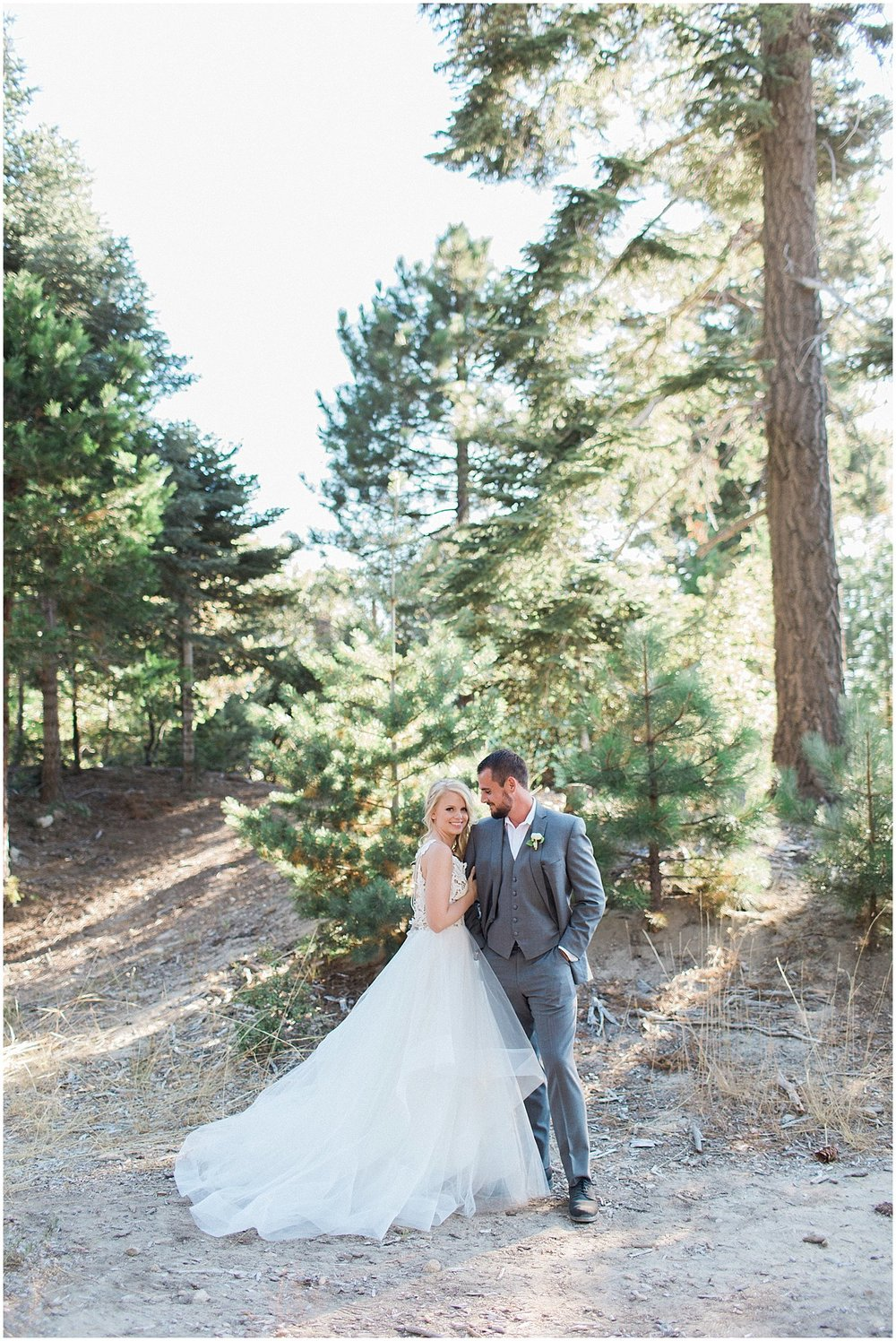 Bride & Groom First Look in the Forest featured on Style Me Pretty | Phoenix Wedding Planner | Megan Dileen Events