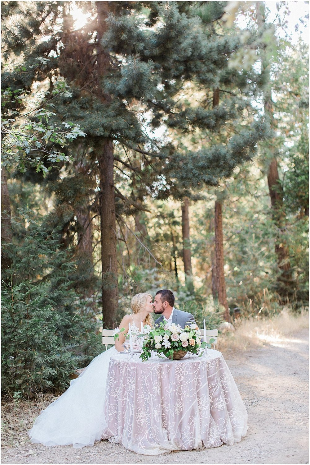 Whimsical Bride & Groom Sweetheart Table featured on Style Me Pretty | Phoenix Wedding Planner | Megan Dileen Events
