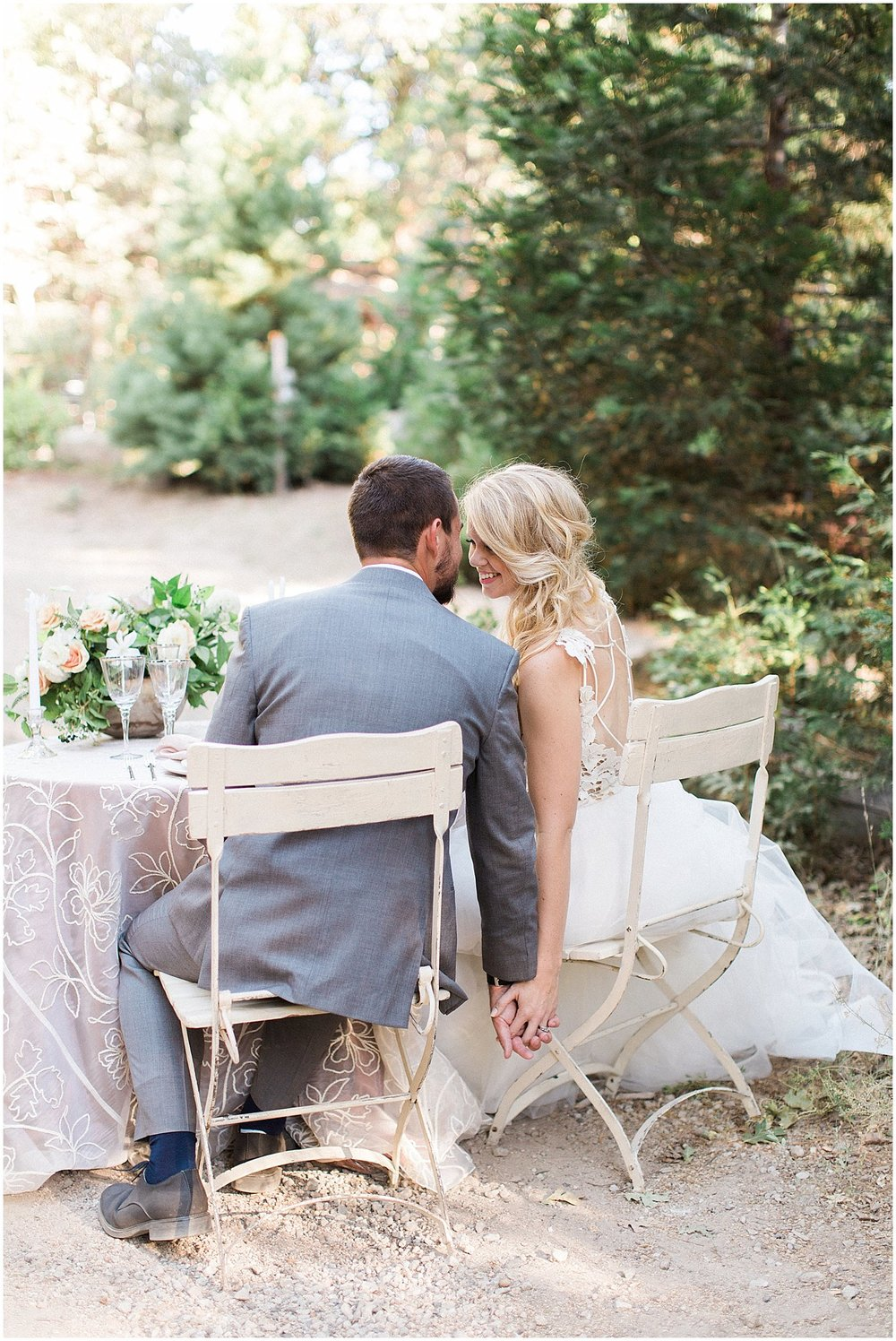Romantic Bride & Groom Sweetheart Table featured on Style Me Pretty | Phoenix Wedding Planner | Megan Dileen Events