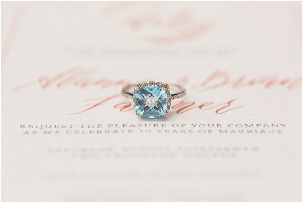 Aquamarine Engagement Ring featured on Style Me Pretty | Arizona Wedding Planner | Megan Dileen Events