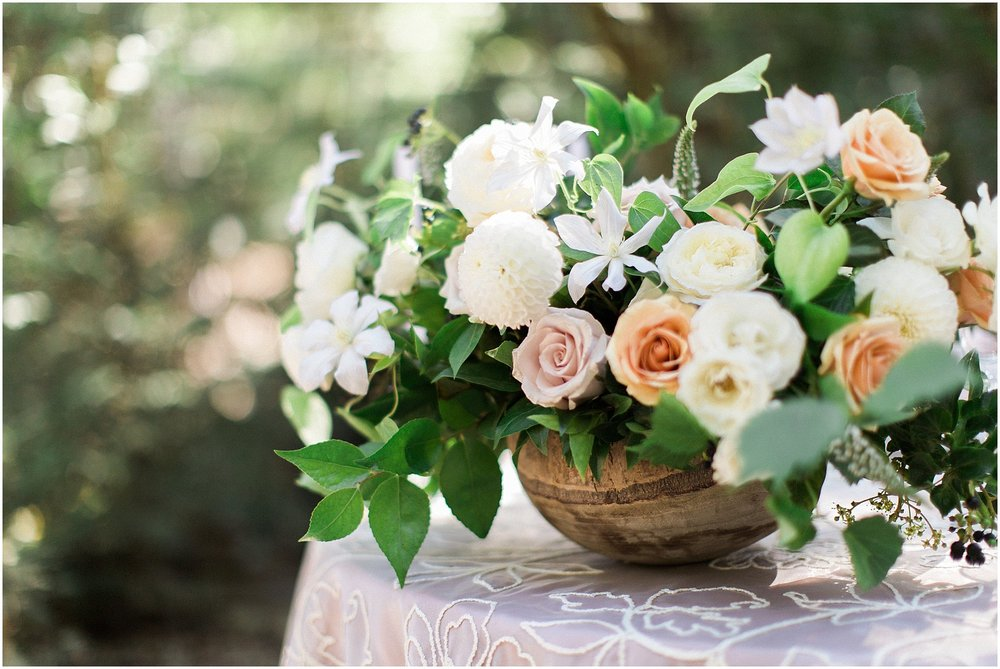 Romantic & Whimsical Rose Centerpiece by Modern Bouquet & featured on Style Me Pretty | Arizona Wedding Planner | Megan Dileen Events