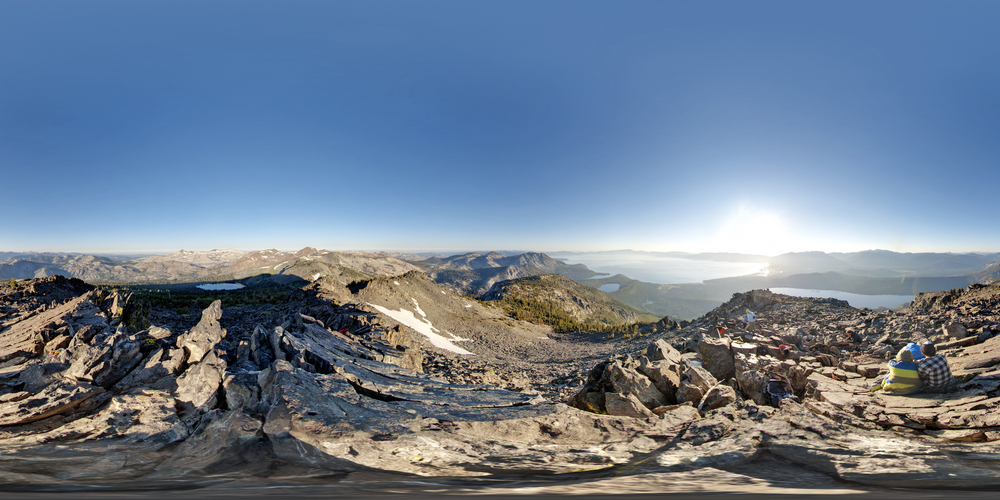 360º Landscape; View of Top of Mt. Tallac & Lake Tahoe.