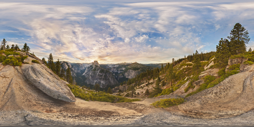 360º Landscape; View of Glacier Point at Yosemite National Park.