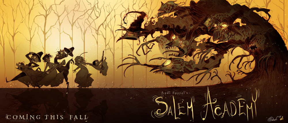 Salem Academy,  pencil & Photoshop   © Andi Espinosa 2014