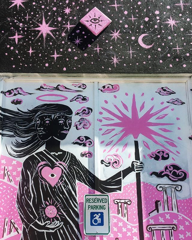 #austinart #sxsw #sxsw2017 #streetart #streetarteverywhere #austintx #austineats #austintexas #graffiti #graffitiart #moon #stars #wallart #eastsideaustin #magic #angel #halo #weirdgravy #mural #murals #muralart #art🎨 #art #artwork #artoftheday #urbanart #urbanphotography #urbanwalls #urbanexploring #austinfood . . . Mural: @weirdgravy @knxwfuture @slokeone