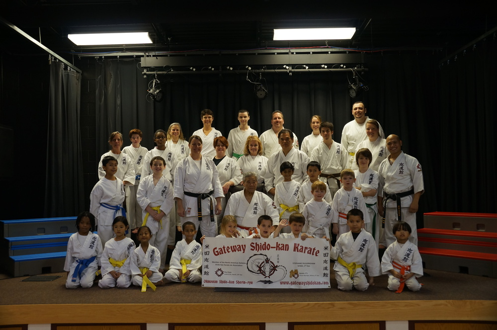 Part of the Gateway Shido-kan Karate crew; along with honored guest Iha Sensei, Basinger Sensei, Uza Sensei and Lynn Tanner.  Everyone did an amazing job over the weekend, as always.  I am so very proud of you all!