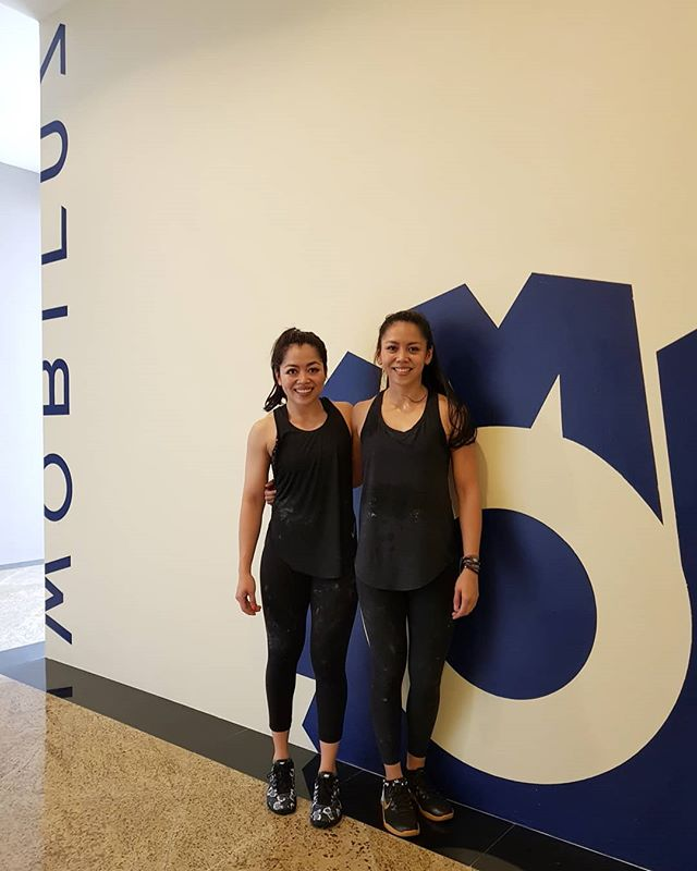 This pair of Brunei sisters clocked in the most number of drop ins as visiting CrossFitters. 8th visit since 2018 🙏 We are grateful of your every return ❤ #crossfitmobilus #wearemobilus #crossfit