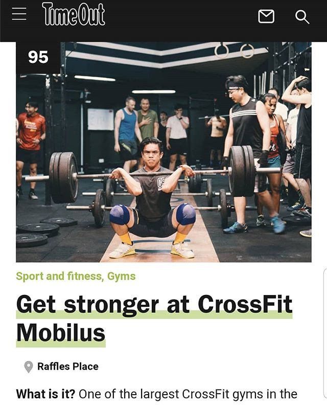 """According to @timeoutsg , we are one of the """"101 best things to do in Singapore"""" 💥❤😘 Drop by for The Mobilus Experience? . https://www.timeout.com/singapore/things-to-do/101-things-to-do-in-singapore-sightseeing  #crossfitmobilus #wearemobilus #crossfit #timeoutsg"""