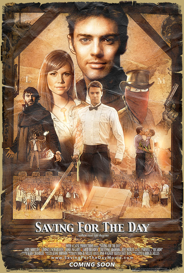 Saving For The Day is a multi-genre independent feature film currently in postproduction. It is slated for completion later this year.