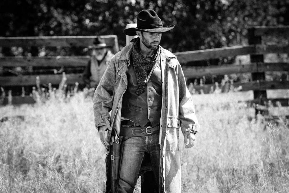 Actor Andy Shirtliff on location in Western Montana shooting Joe's dream sequence