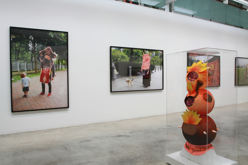 Eko Nugroho   We Are What We Mask , 2013 Installation view at Singapore Tyler Print Institute, Singapore