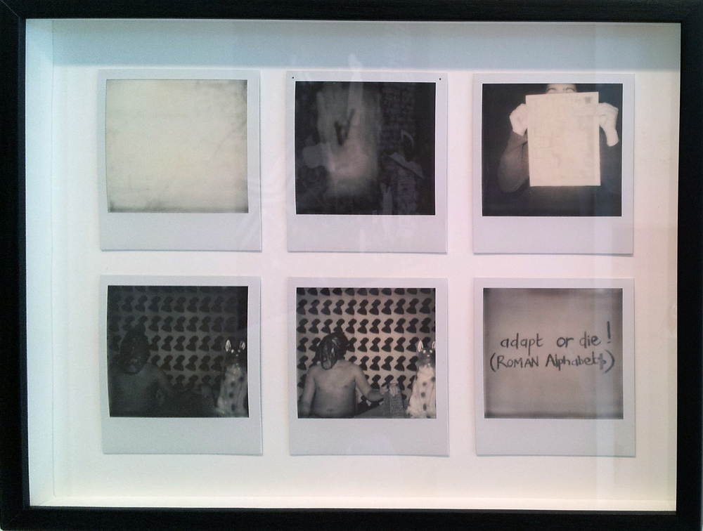 Kemang Wa Lehulere   For This, There are No Songs 3 (Sleep Is for the Gifted) , 2013 six silvertone Polaroid photographs 4.25 x 3.5 inches each 10.8 x 8.9 cm each