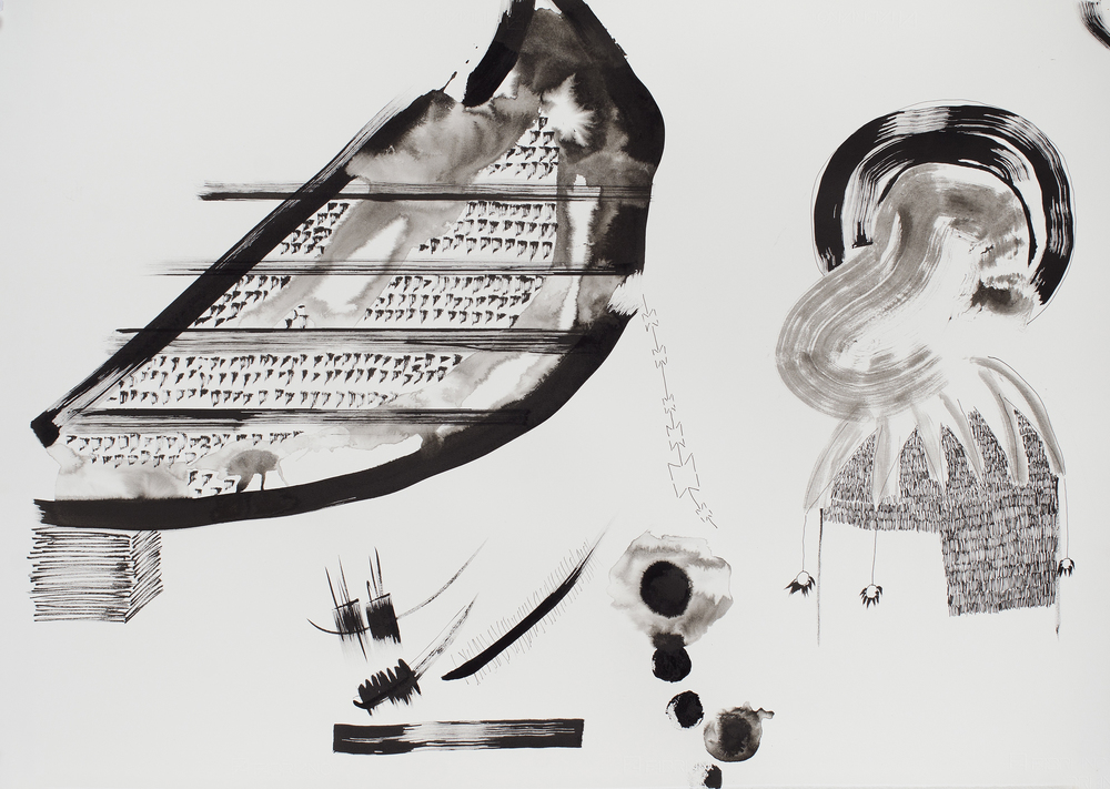 Kemang Wa Lehulere   Stamps for Thulang (Sleep is for the Gifted) , 2013 ink on paper 27.56 x 39.37 inches 70 x 100 cm