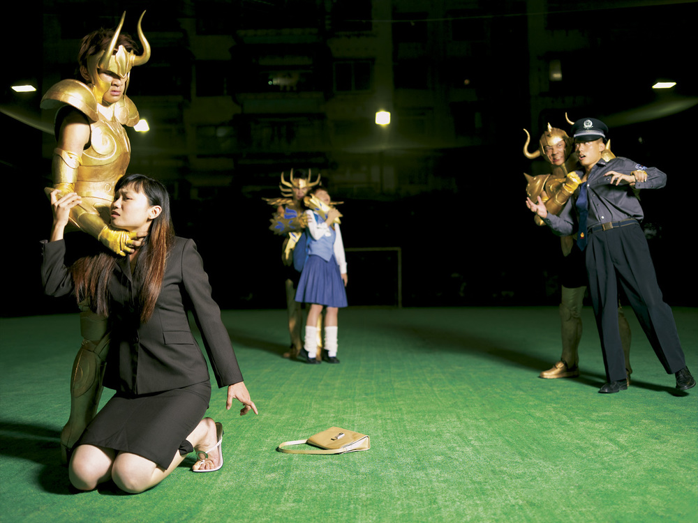 Cao Fei   Hijacking (COSPlayers Series) , 2004 digital c-print 29 1/4 x 39 1/4 inches 74.3 x 99.7 cm