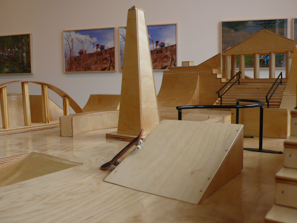 Cao Fei   Play Time Fingerboard Park Installation , 2011 tech deck, fingerboard park, wood 94.49 x 47.24 x 14.57 inches 240 x 120 x 37 cm