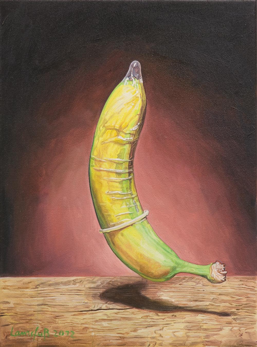 Ulrich Lamsfuss   Anthony Bradshaw, Banana (getty im. #105065566)  , 2012   oil on canvas   13.78 x 10.24 inches   35 x 26 cm