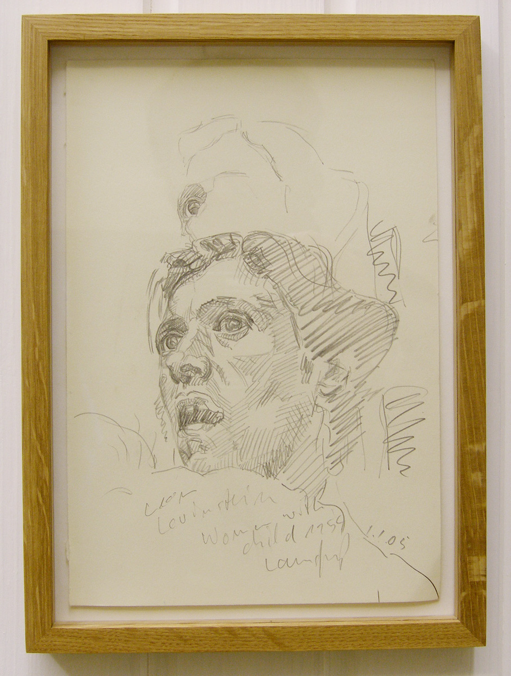 Ulrich Lamsfuss   Leon Levinstein, Woman with Child 1 (5/05) , 2005 pencil on paper 26 x 18 inches (framed) 30 x 22 cm