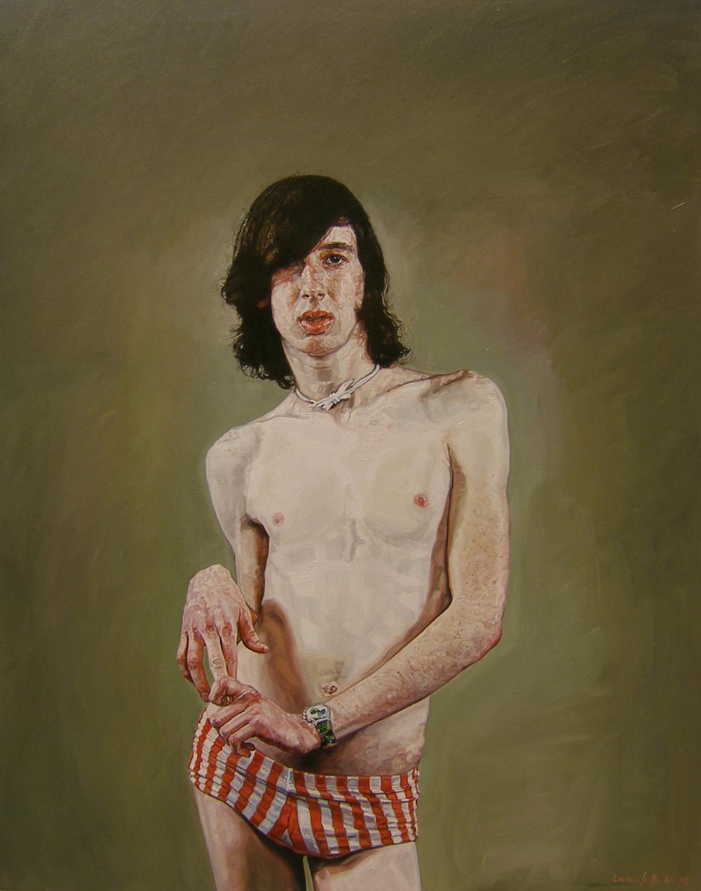 Ulrich Lamsfuss   Mireya Acierto- Todos Sois Unos Chulazos 1 (175/11) , 2005 Oil on canvas 49.21 x 39.37 inches 125 x 100 cm