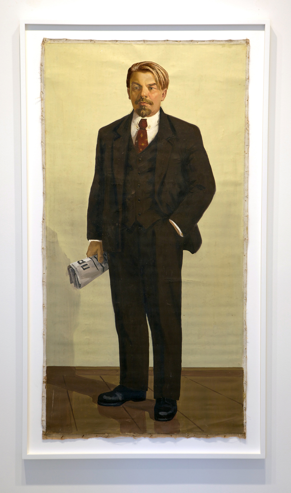 The Propeller Group   Lenin as Jack Dawson in Titanic  , 2013   oil and embroidery on canvas   66.75 x 37.5 inches   169.5 x 95.3 cm