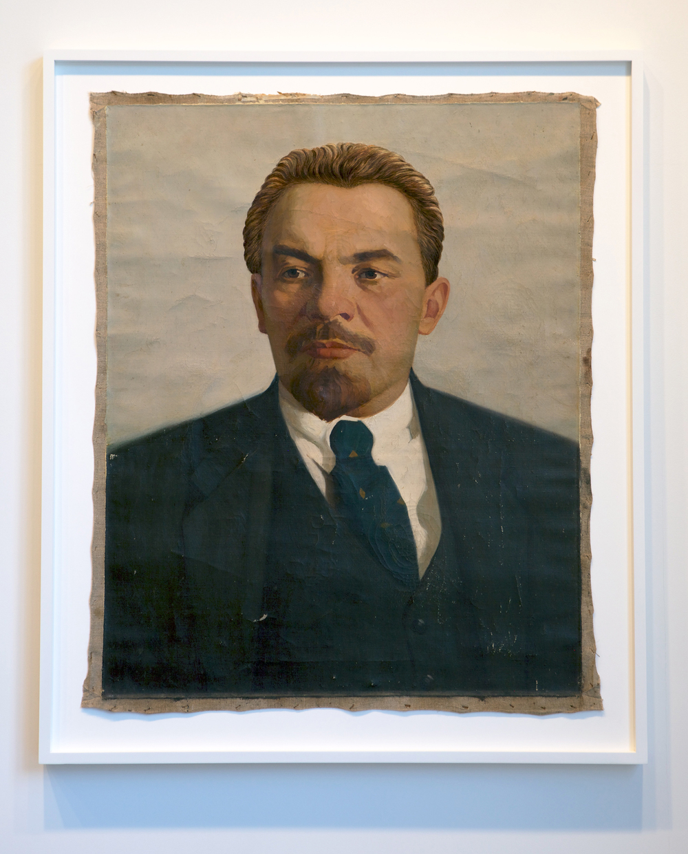 The Propeller Group   Lenin as Cobb in Inception  , 2013   oil and embroidery on canvas   47 x 39.75 inches   119.4 x 101 cm