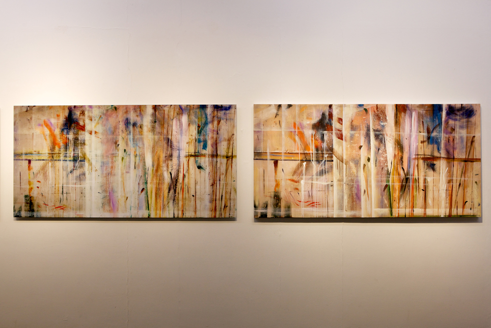 The Propeller Group   Phunam Reproduction: Subconscious Dafen 02 (diptych)  , 2012   oil on canvas   archival inkjet print   painting: 31.5 x 74.8 inches (80 x 190 cm)   photograph: 31.5 x 74.8 inches (80 x 190 cm)