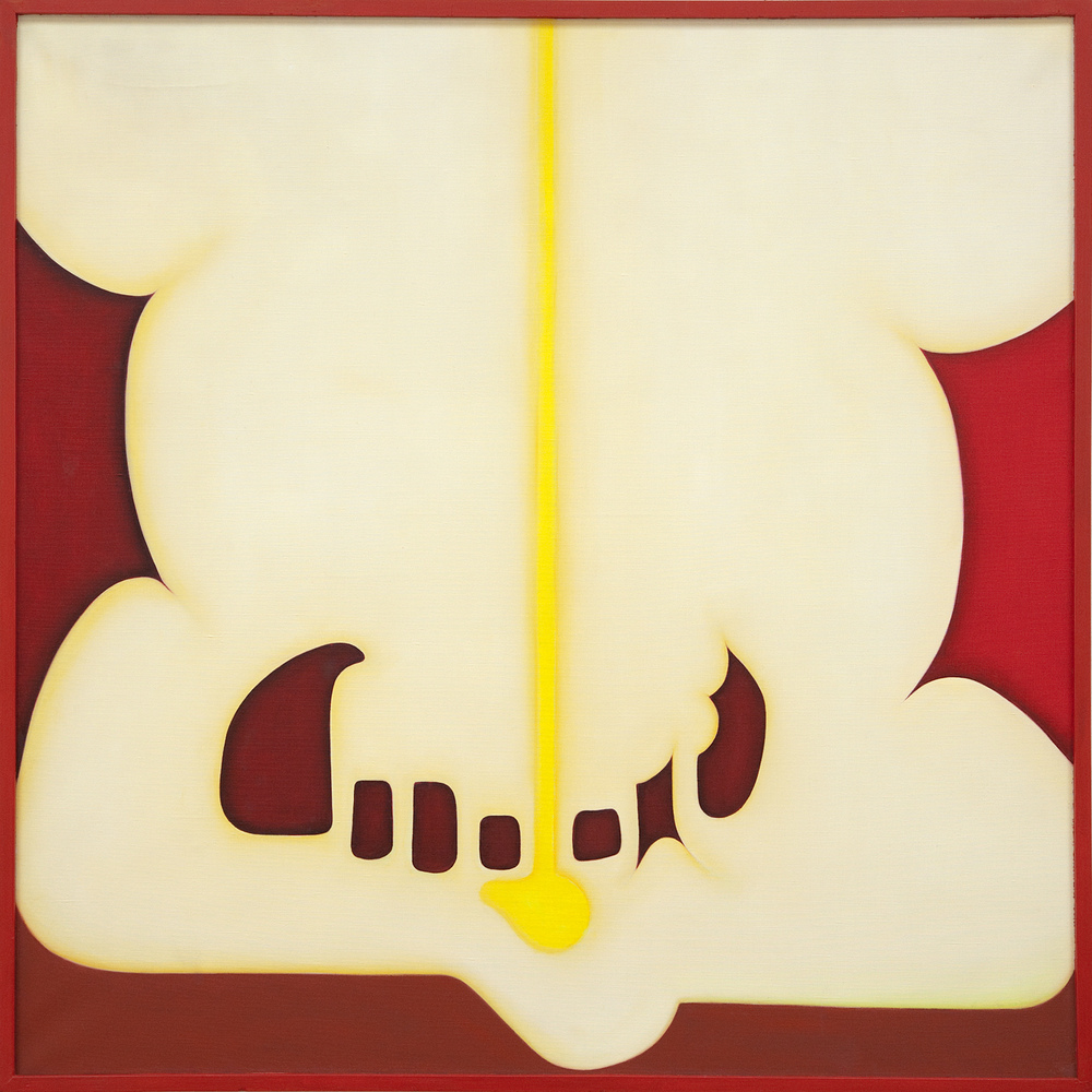 Huguette Caland   Monsieur , 1980 oil on linen 40.16 x 40.16 inches 102 x 102 cm