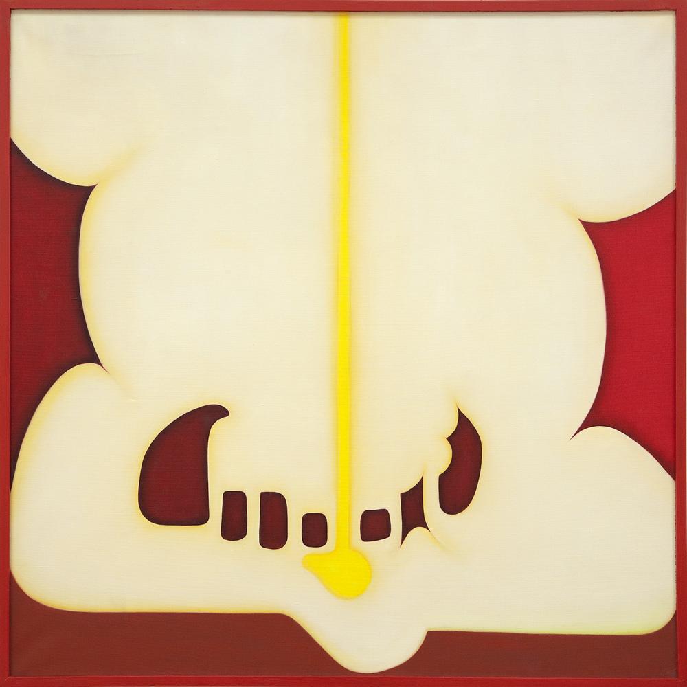 Huguette Caland   Monsieur , 1980 oil on linen 40.16 x 40.16 inches 102 x 102 cm