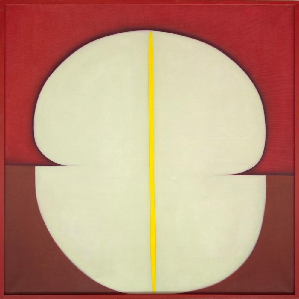 Huguette Caland   Madame , 1980 oil on linen 40.16 x 40.16 inches 102 x 102 cm