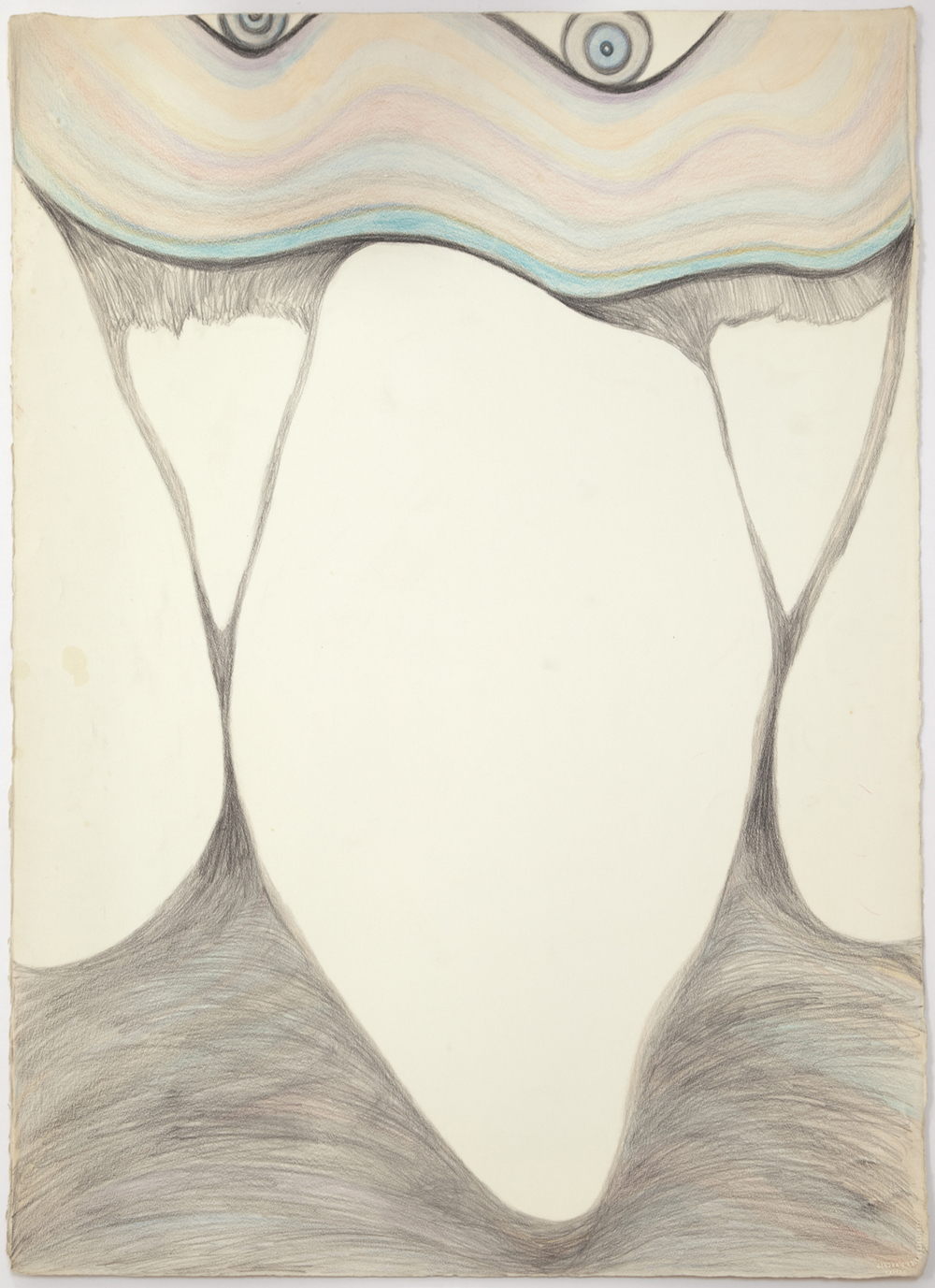 """627_color pencil on paper_29.75 x 22.25""""_1985_AB.jpg"""