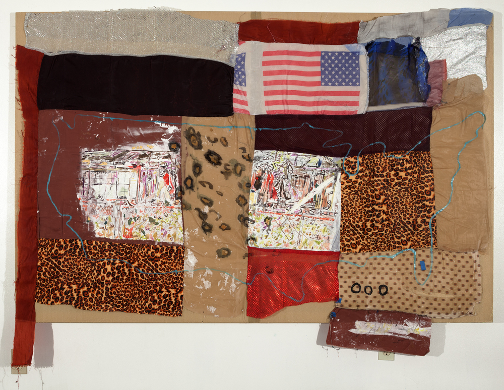 Tameka Norris   Bernadine , 2014 oil and acrylic on fabric 52 x 82 inches 132.1 x 208.3 cm