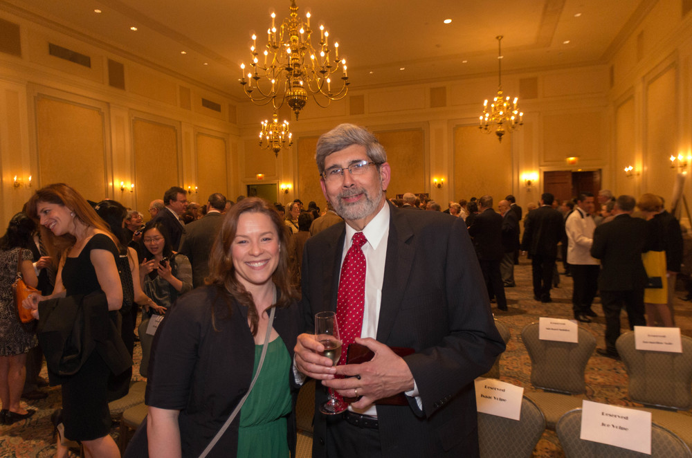 Clarinetist Jessica Phillips and Orchestra Personnel Manager Robert Sirinek at the New York Wagner Society award ceremony