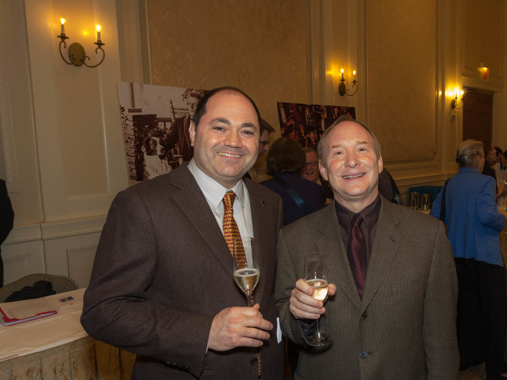 French Horn Player Javier Gándara and Cellist Sam McGill at the New York Wagner Society award ceremony