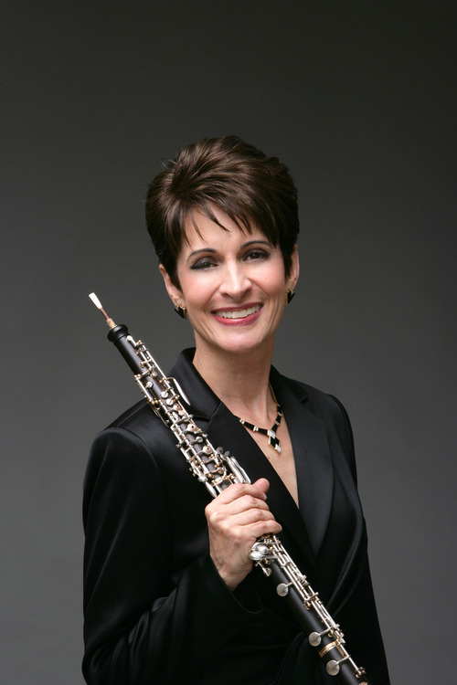 Elaine Douvas, principal oboist of the Met; photo credit, John Abbott