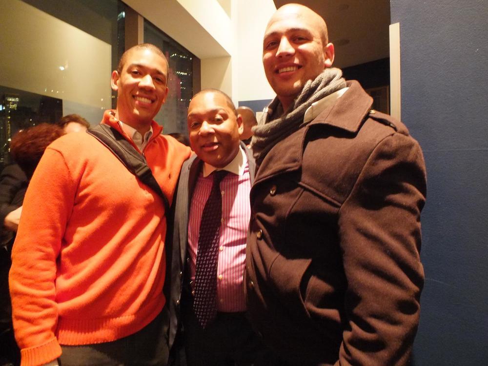 Left to Right: Weston Sprott, Wynton Marsalis, and Angus Petersen
